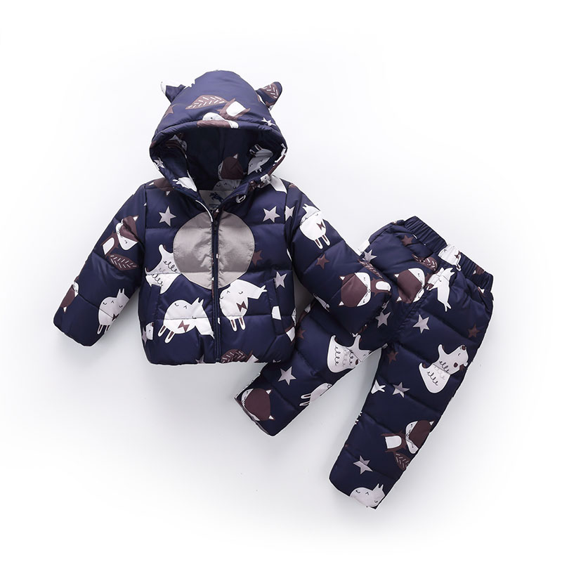 a39c7c1c4 Baby Winter Clothes 2 Pieces Set Down Jacket+Pants Baby Boys   Girls ...