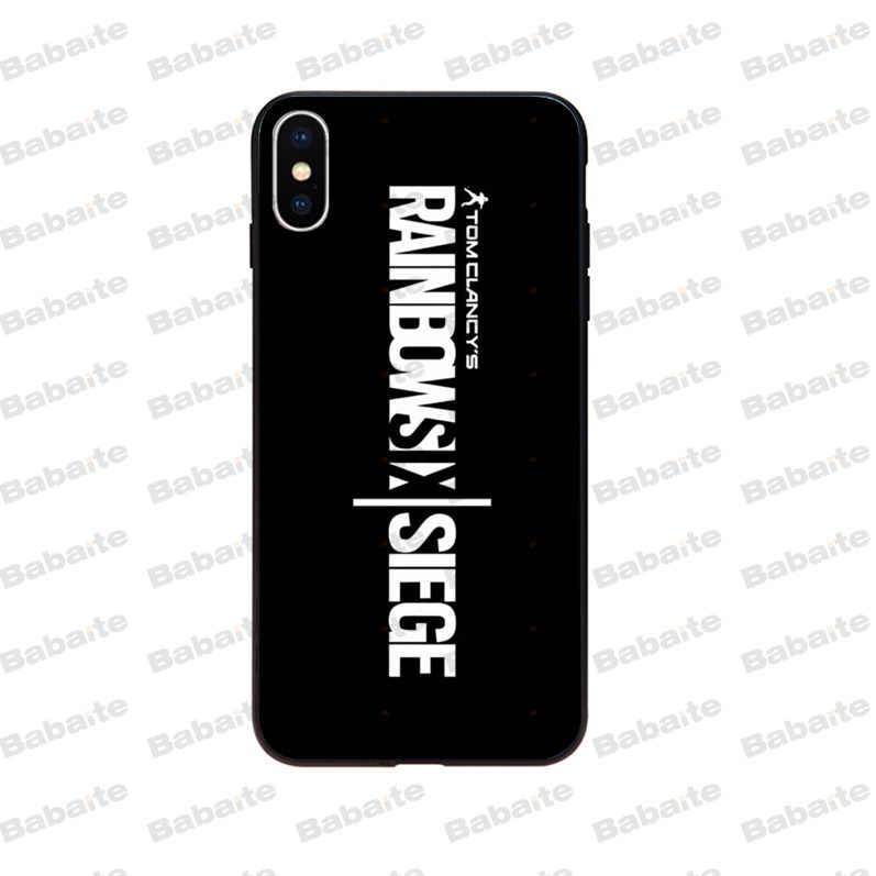 Babaite Rainbow Six siège Coque Coque téléphone étui pour iphone X XS MAX 6 6S 7 7plus 8 8Plus 5 5S XR couverture