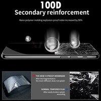 Vidro de proteção de borda curvada 100D no para iPhone 7 8 6 6s Plus Protetor de tela temperado para iPhone 11 Pro X XR XS Max Glass 2