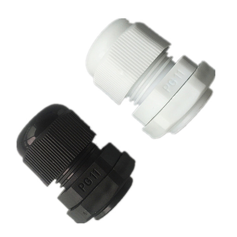 10PCS/LOT Nylon Waterproof Cable Connector water-proof joint PG11 Cable Gland 5-11mm Cable Range