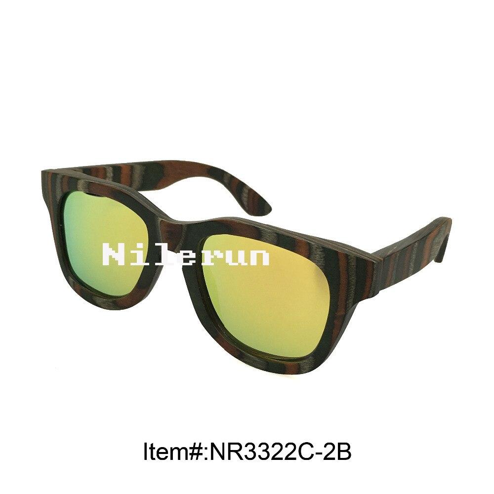 fashionable huge yellow anti-reflective lens candy wood sunglasses