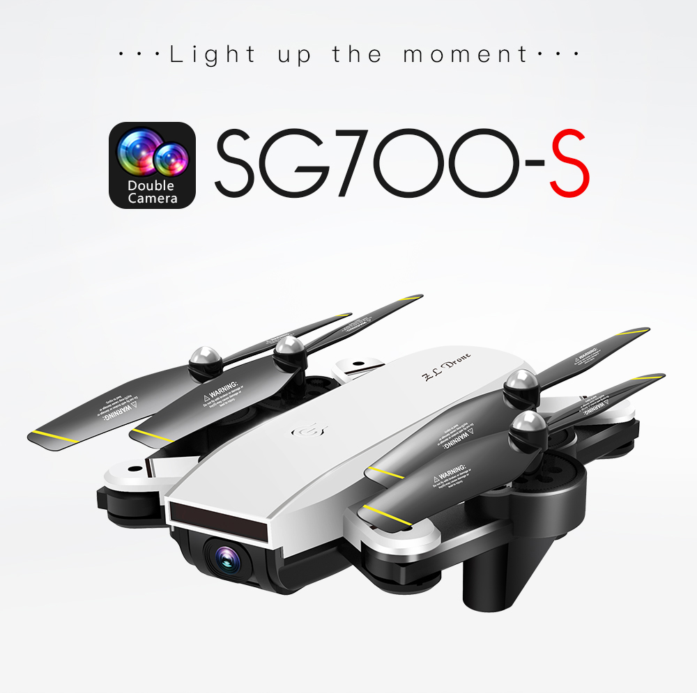 RC Helicopter With HD Camera Wide Angle Selfie Drone Palm Control Quadcopter With WiFi Camera SG700 Upgraded Version SG700s Dron 1