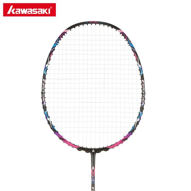 Kawasaki Professionnel De Badminton De Carbone Raquette 4U Raquette avec de la Ficelle Balle Type De Contrôle Raquettes pour Les Débutants Firefox S720