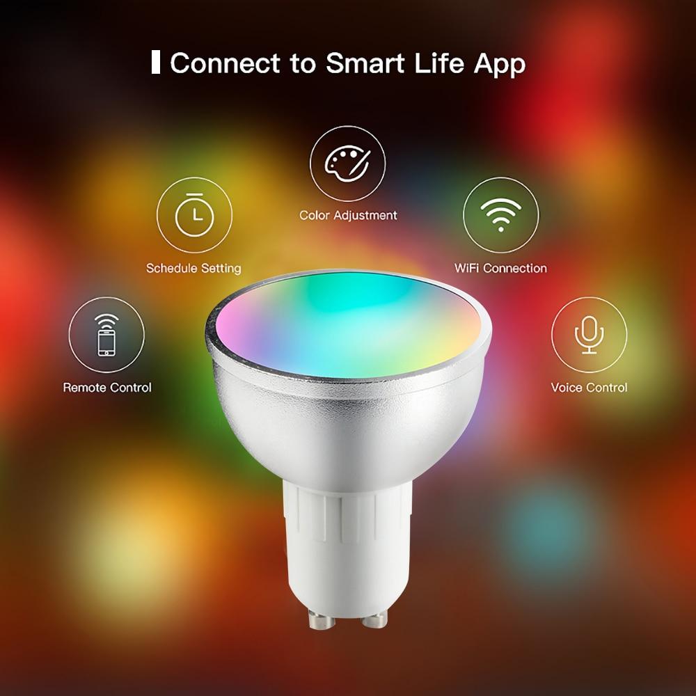 4x GU10 LED Smart Glühbirne Intelligente Birne WiFi Lampe Dimmbar für Alexa DE