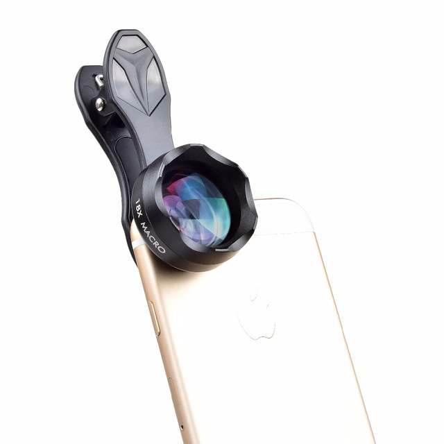 APEXEL Universal Clip on HD 18X Macro Lens Photography Mobile Phone Lens micro lentes For iPhone Lens mobile phone 2