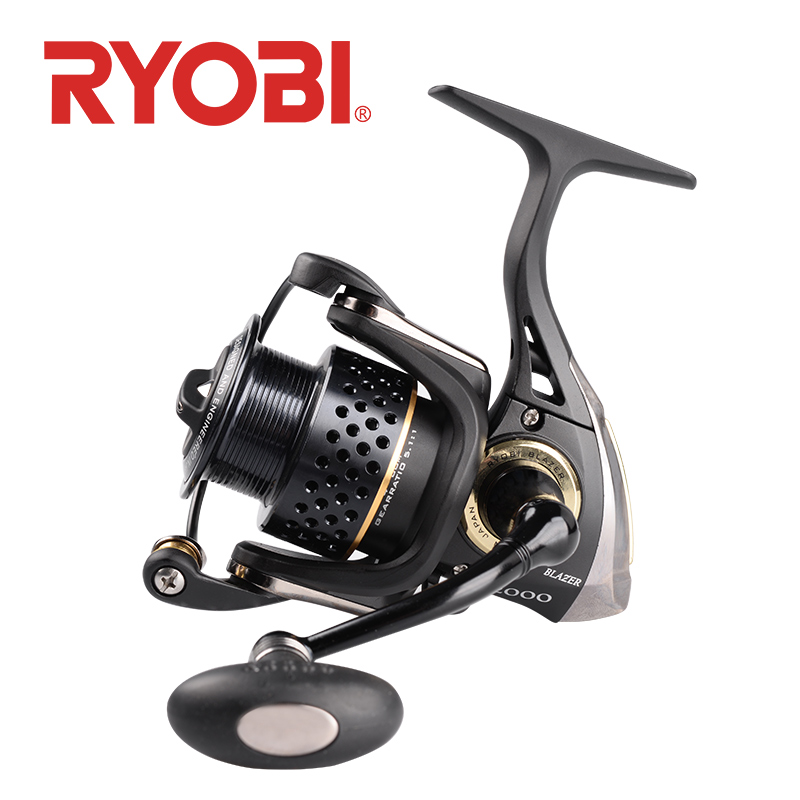 <font><b>RYOBI</b></font> BLAZER Fishing Reel Spinning Wheel 2000 <font><b>3000</b></font> 4000 Gear Ratio 5.1:1/5.0:1 2.5kg~5.0kg 7BB carretilha de pesca carp fishing image