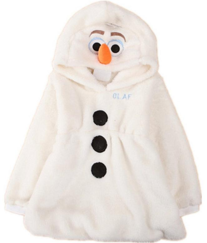 cute warm cotton kid coat cartoon snow queen snowman solid hooded coat for 2-10yrs children boys girls outerwear clothes hot