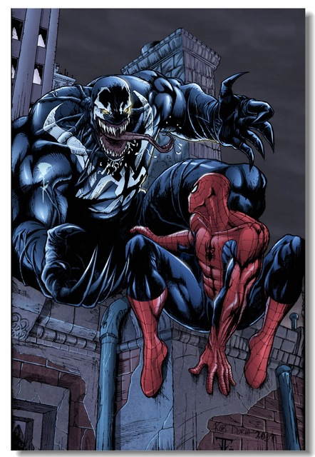 Dora Behang Kinderkamer.Custom Canvas Wall Decor Venom Poster Thanos Venom Vs Spider Man