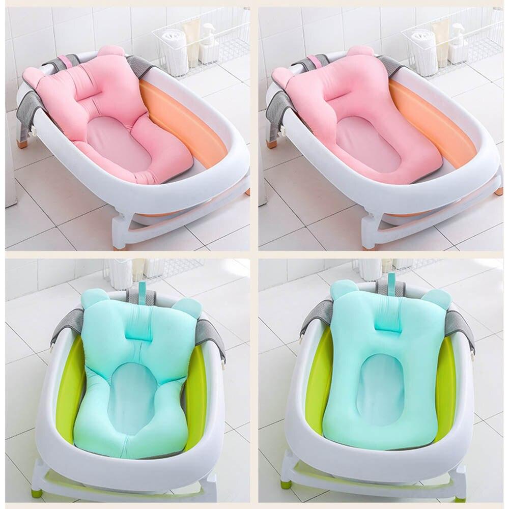 baignoire pliable pour nouveau ne tapis flottant siege filet de bain antiderapant lit chaise coussin de bain portable pour enfants sans bassin