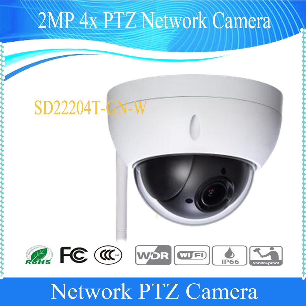 Free Shipping DAHUA IP Camera CCTV 4X 2MP WIFI Full HD Mini Network PTZ Dome Camera Without Logo SD22204T-GN-W dahua full hd 30x ptz dome camera 1080p