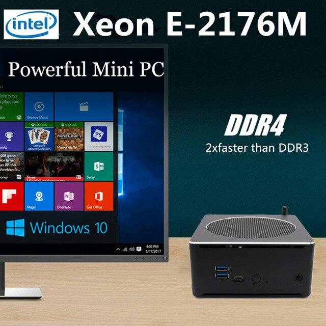 EGLOBAL Топ игровой компьютер Xeon E-2176M 6 ядер 12 потоков Nuc Mini PC Win10 Pro HD-MI переменного тока WiFi BT 4 K Minipc Max 32 GB DDR4