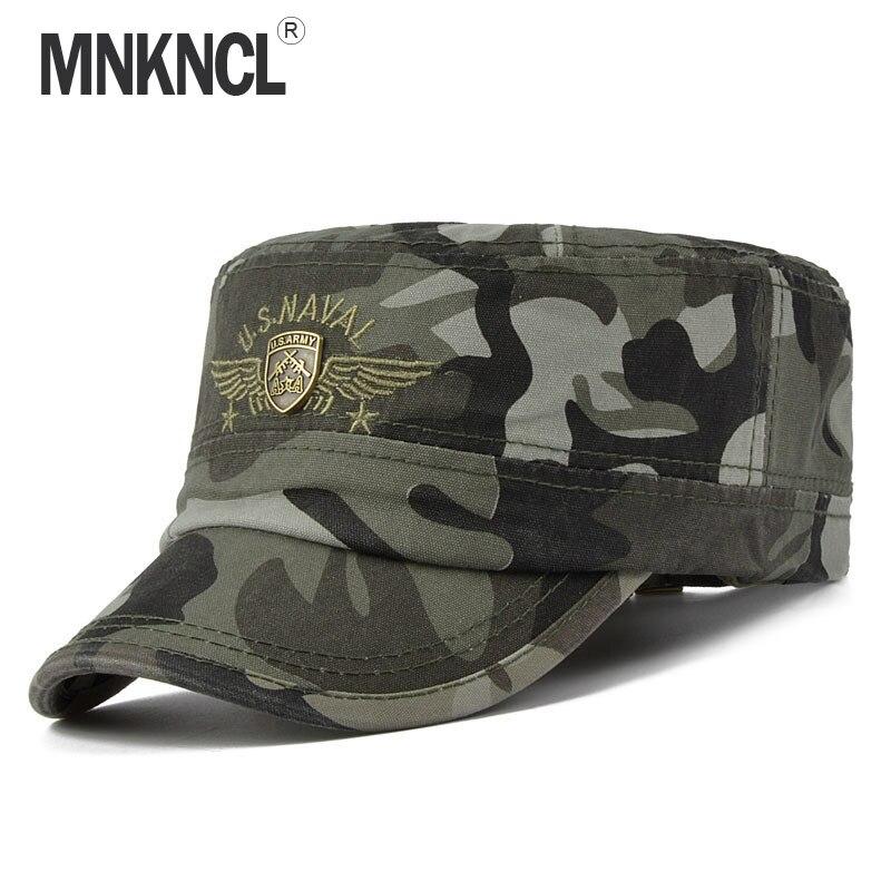MNKNCL Men   Baseball     Caps   Chapeau Homme Snapback   Caps   Adult Camo Adjustable Army   Cap   Peaked   Cap   Flat Top Hats