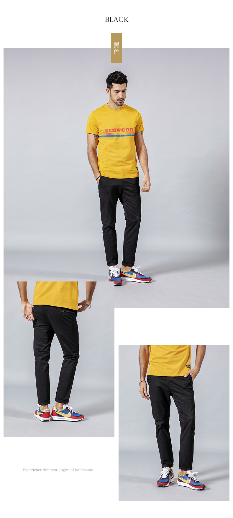 SIMWOOD 2019 Spring Summer New Casual Pants Men  Cotton Slim Fit Chinos Fashion Trousers Male Brand Clothing Plus Size