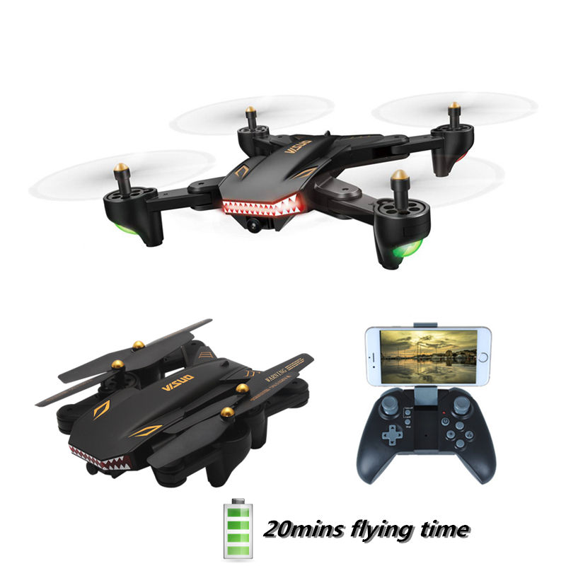 VISUO XS809S RC Drone Con La Macchina Fotografica FPV WIFI 20 min Tempo di Volo Pieghevole Quadcopter RTF Elicottero VS E58 E511 Di Natale giocattoli
