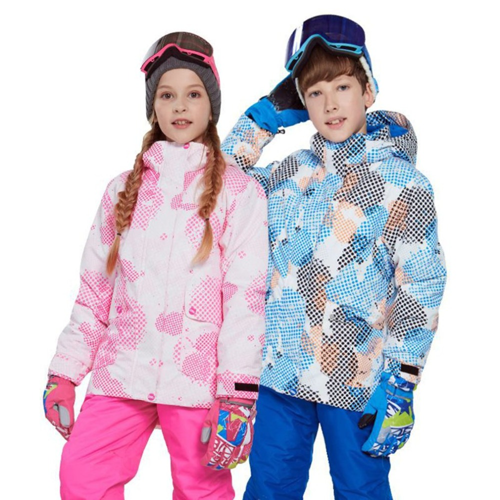 Kids Boys Girls Winter Snowboard Skiing Parka Jacket Snow Bib Snowsuit Set Warm Snowsuit Hooded Ski Jacket + Pants 2 Pcs SetKids Boys Girls Winter Snowboard Skiing Parka Jacket Snow Bib Snowsuit Set Warm Snowsuit Hooded Ski Jacket + Pants 2 Pcs Set