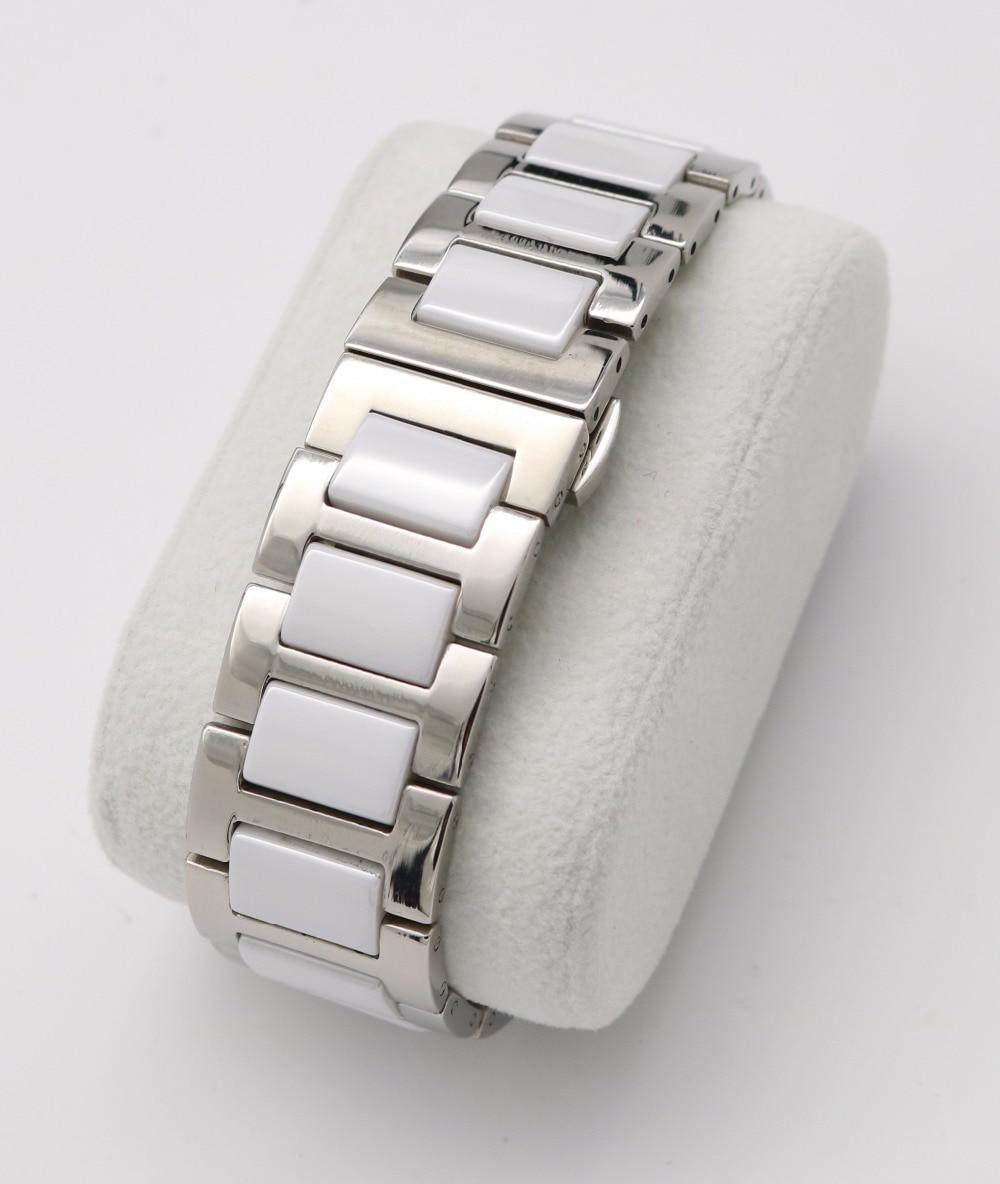 16 18 20mm Silber Massivstahl Uhrenarmband Gurt Armband Schwarz Weiß - Uhrenzubehör - Foto 3