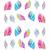 120 pçs/saco Moda Pena Da Arte Do Prego de Transferência da Água Adesivo Rainbow Sonhos Decalque