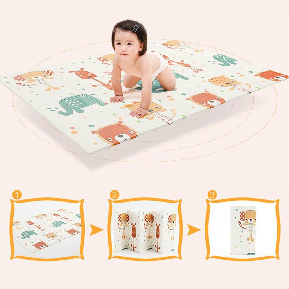Bébé 195*148*1 cm jouer pliant tapis XPE ramper Pad épaississement infantile maison salon Pad mignon enfants Protection