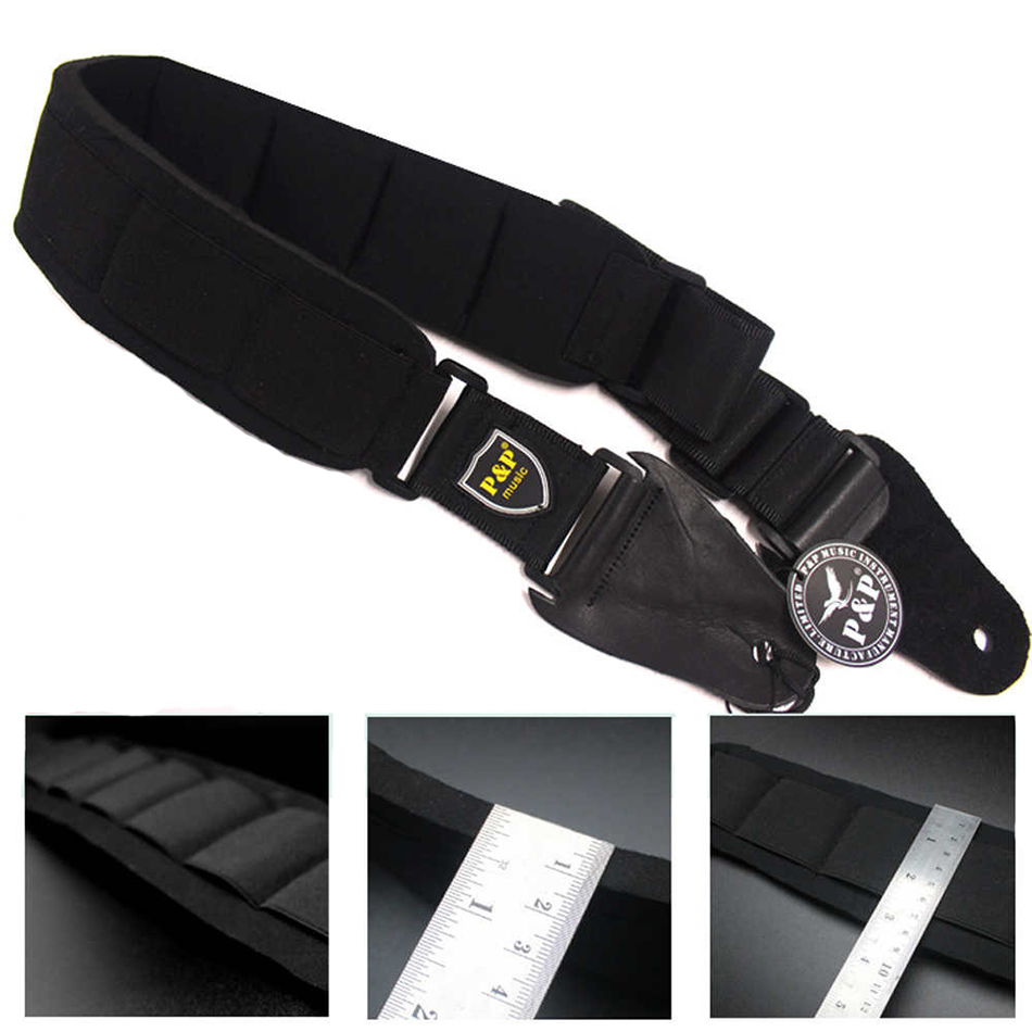 Free Shipping Professional EVA Thickening Padded Guitar Strap Acoustic Electric Guitar Bass Strap Reduce Pressure warp knitting classical guitar strap acoustic electric guitar strap extreme well