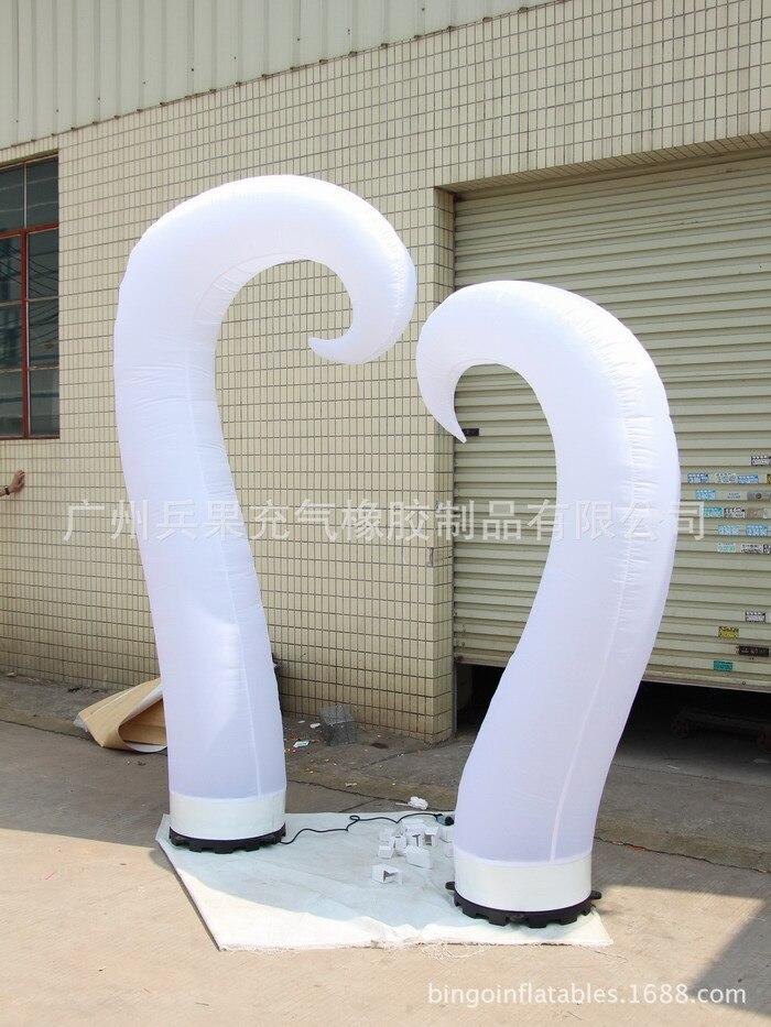 Combinaison gonflable d'éclairage de coeur, tube léger, merveilleux pour le mariage, partie, jouet commercial de lumières de promotion