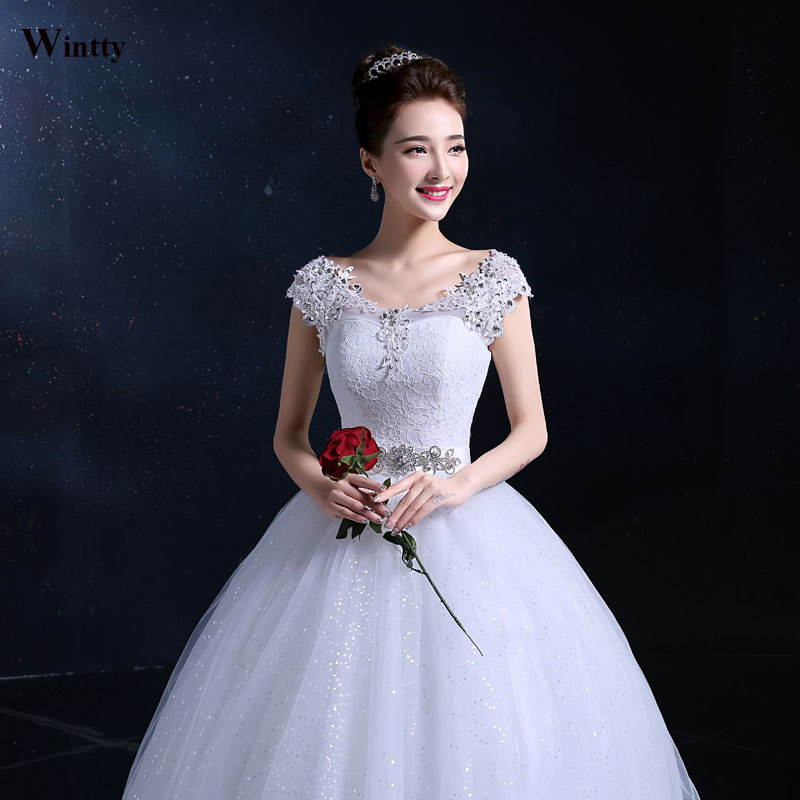 Cheap Wedding Dresses Size 6: Wintty Sexy Lace Cheap Wedding Dresses Romantic Plus Size