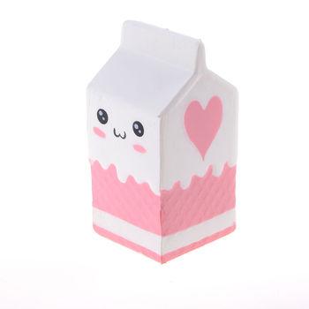 Blando caja de leche de aumento lento caja de cartón correas de teléfono colgante pan perfumado crema dulce niños diversión juguete regalo 2 colores 1 piezas
