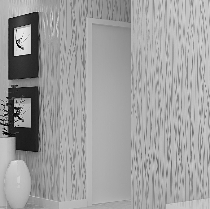 Aliexpresscom Buy Silver Grey Wallpaper Roll Striped Wallpapers