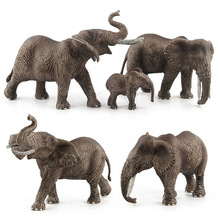 New Big Size Animals kingdom Elephants Toy Set Plastic Play Toys World Park Model Action Figures Kids Gift Home Decor