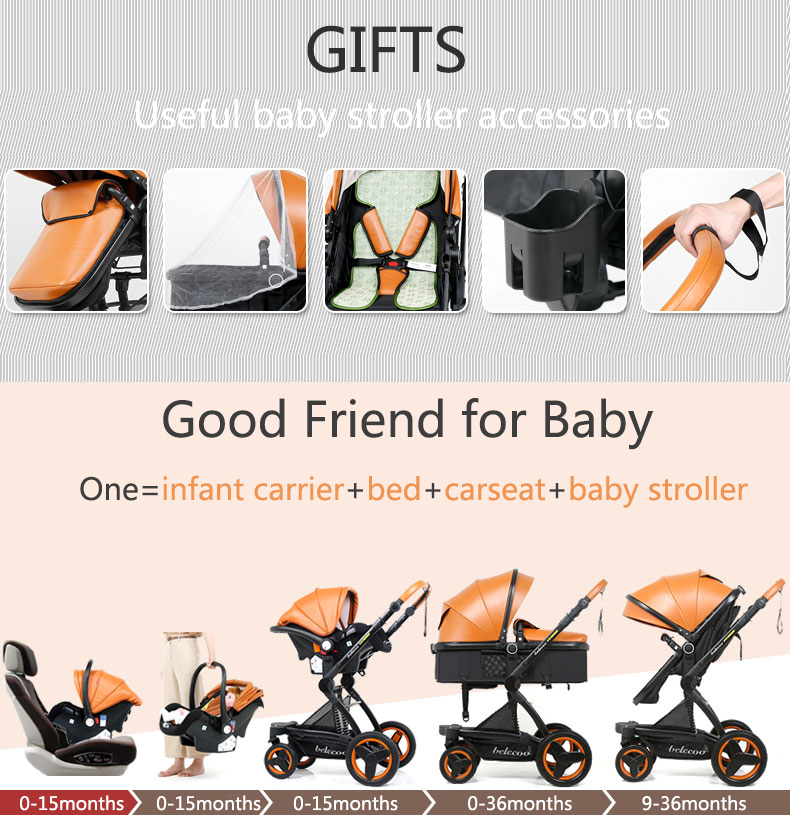 luxury baby stroller 3 in 1 (2)