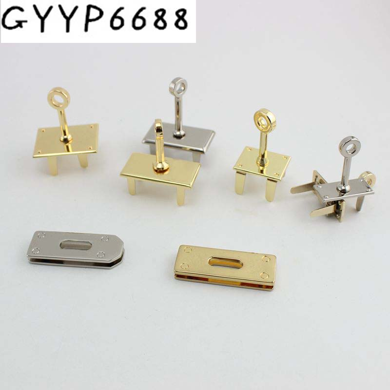 40pcs 5pcs Repair High End Lock Seat Female Package Lock Buckle Twist Bag Hardware Accessories Platinum Bag Lock Arch Bridge