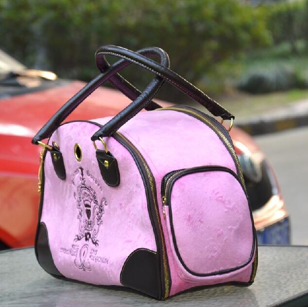 Upscale Velvet Bags For Small Pet Dog Bag Cat Carrier Handbag Backpack Portable Travel Airline Shoulde Tote
