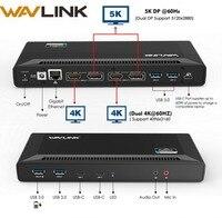 Wavlink 4 k USB-C Phổ Docking Station Kép Gigabit Ethernet USB 3.0 5 k HDMI DP Hiển Thị Điện Giao Hàng với ĐIỀU HÀNH Windows Mac OS