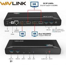 Универсальная док станция wavlink 4k с двумя гигабитными ethernet