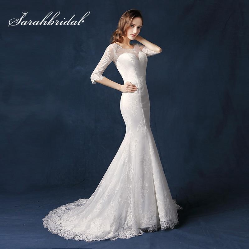 White Lace Mermaid Gown: Aliexpress.com : Buy Elegant White Lace Mermaid Wedding