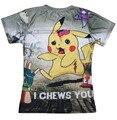Ropa de moda mujer hombre Unisex 3d I mastica You T-Shirt Pikachu zombie vivientes zombies Pokemon spooky camiseta vibrante Pokedex tees