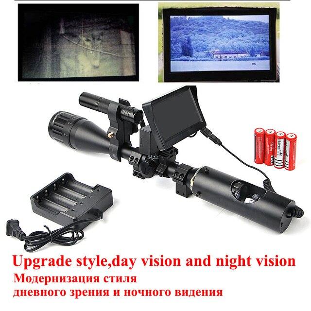 Vision nocturne Lunette De Visée Tactique Lunette de visée Optique Vue Avec  Moniteur de Batterie et 7f6fd94af292