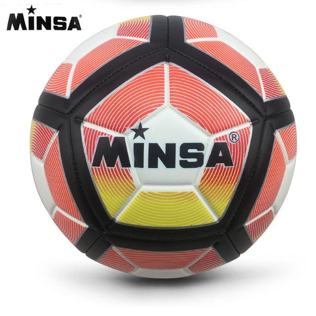 2018 New Brand MINSA PU Soccer Ball Official Size 5 Football Goal League Ball Outdoor Sport Training Balls futbol voetbal bola