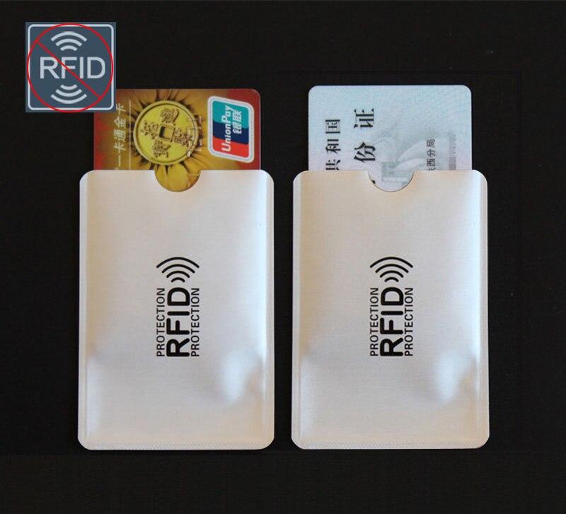 (10 Teile/satz) Anti Scan Rfid Sperrung Karte Hülse Kredit Debit Karten Schutz Pouch Sicherheit Id Blocker Aluminium Folie Halter