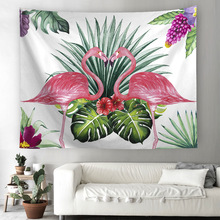 Flamingo Tapestry Wall Art Tapestries Tropical Home Decorative Door Curtain Living Room Bedspread Sheet Table Cloth