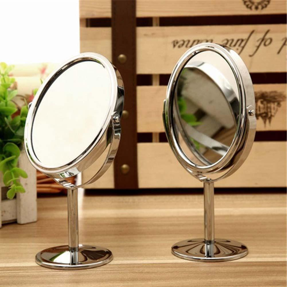 Desktop makeup mirror Double Side Hairdressing Mirror Desk Makeup Mirror Magnifying Circular Cosmetic Mirror