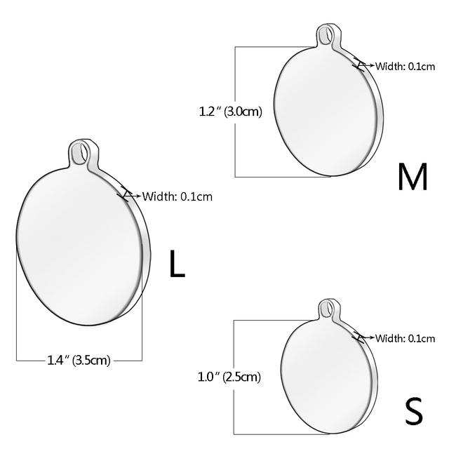 Stainless Steel Personalized Dog Cat ID Tags Customized Anti-lost Tag Text On Name Phone No. With Free Training Whistle