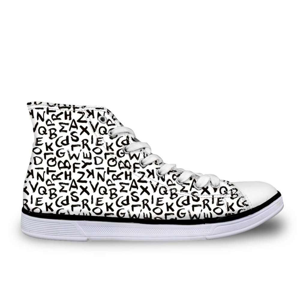 Whereisart Cao Hàng Đầu Giày Sneaker Nam Bảng Chữ Cái In Giày Vải Canvas Nam Lưu Hóa Giày Cổ Điển Siêu Sao Tùy Chỉnh Người Đi Bộ Bằng Phẳng