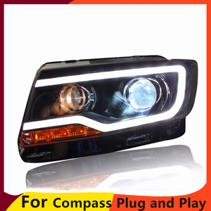 Image 3 - KOWELL luz LED para JEEP Compass 2011 2015, faro delantero, luz LED de conducción diurna, LED DRL bi xenón HID