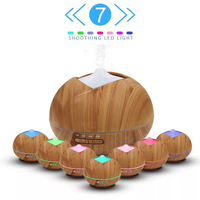 400ML Aroma Diffuser Aromatherapy Ultrasonic Air Humidifier With 7 LED Lights For Home Aroma Diffuser Ultrasonic
