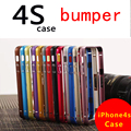 2016 the latest ultra-thin metal frame covered Luxury for Apple iPhone4 4S accessories aluminum bumper on iPhone 4s