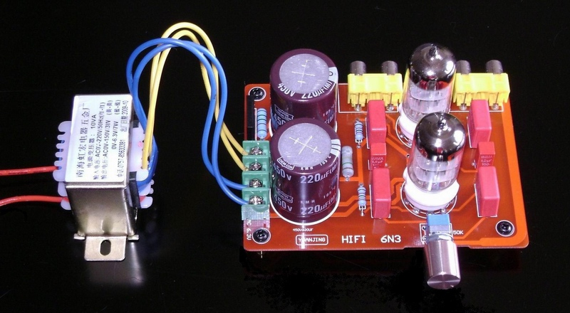 6N3 <font><b>tube</b></font> pre-amp board,(With transformer)/Electronic valve <font><b>amplifier</b></font> board image