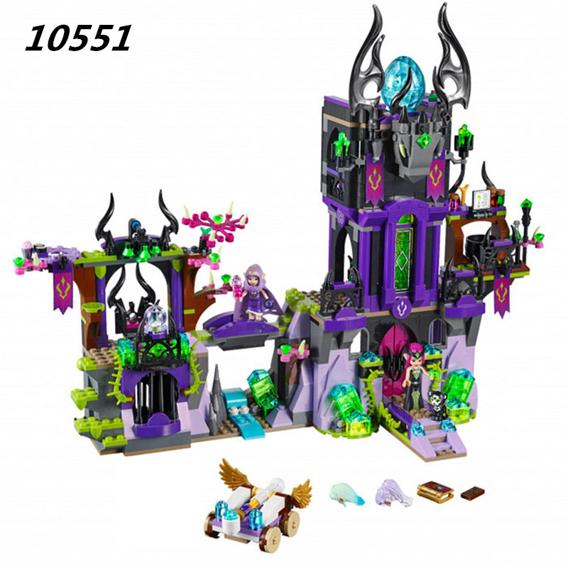 10551 Building Block Compatible with Elves Laguna Dark Magic Castle 41180 Fairy Figure Educational font b