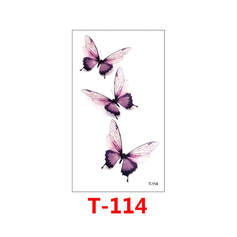 Hot 1 Piece Popular Temporary Tattoo Sticker Black Design Arm Fashion Body Art Waterproof Paper for Women Hand T 114 in Temporary Tattoos from Beauty Health