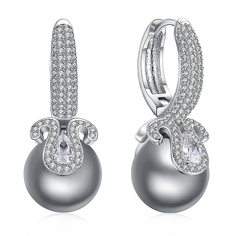 Newly Issued Wedding Earrings Unique Design Zircon Retro