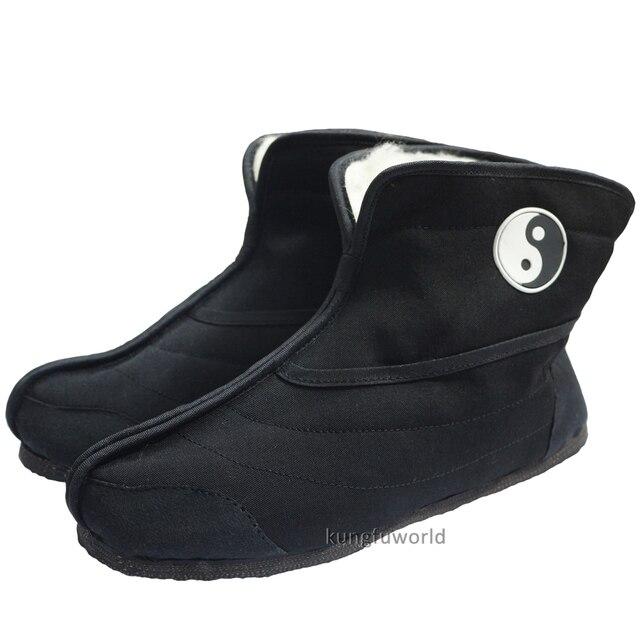 a39924aea Wudang Taoist Winter Tai chi Kung fu Shoes Boots Martial arts Wing Chun  Wushu Sports Taekwondo Karate Sneakers